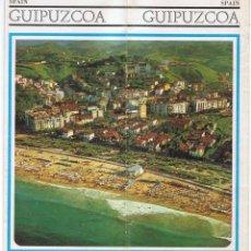 Folletos de turismo: GUIPÚZCOA. FOLLETO TURÍSTICO EN INGLÉS. AÑOS 70. MAPA DESPLEGABLE. Lote 71423347