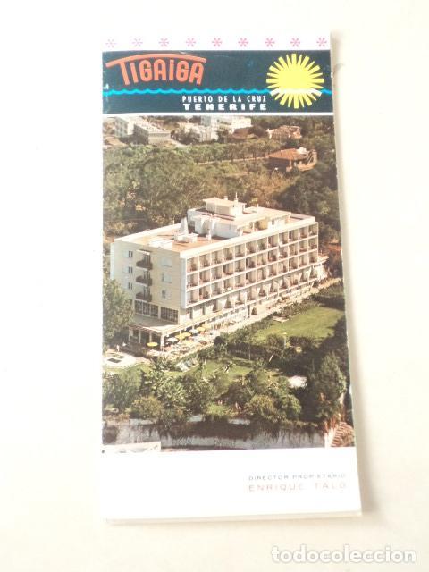 ISLAS CANARIAS - HOTEL TIGAIGA (TENERIFE) (Coleccionismo - Folletos de Turismo)
