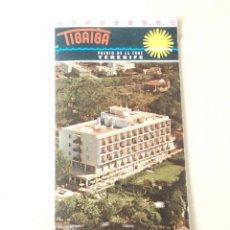 Folletos de turismo: ISLAS CANARIAS - HOTEL TIGAIGA (TENERIFE). Lote 71556183