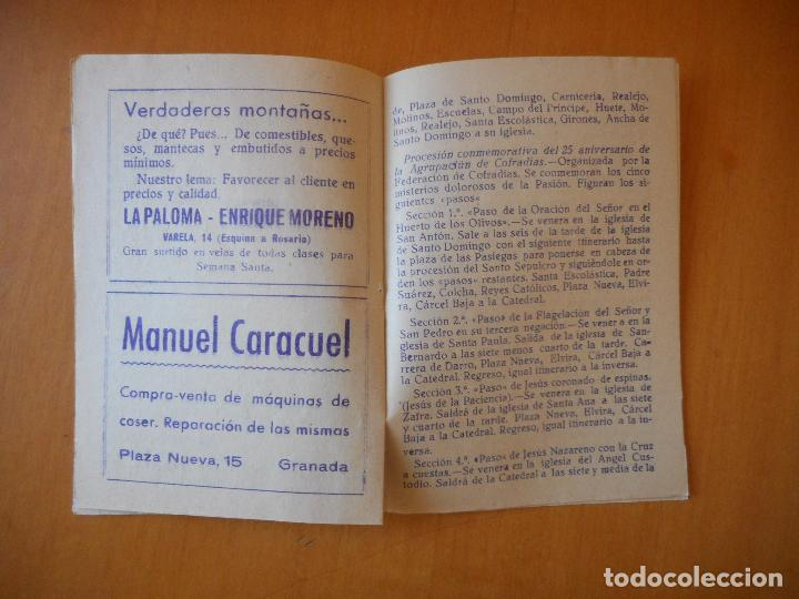 Folletos de turismo: Semana Santa Granada 1952. Itinerarios y horarios de las Cofradías. 38 páginas. Buen estado - Foto 2 - 72320563