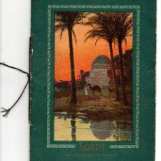 Folletos de turismo: GUÍA TURÍSTICA DE VIAJES POR EL MEDITERRÁNEO PARA VISITAR EGIPTO EN BARCOS A VAPOR 1930. Lote 72416247