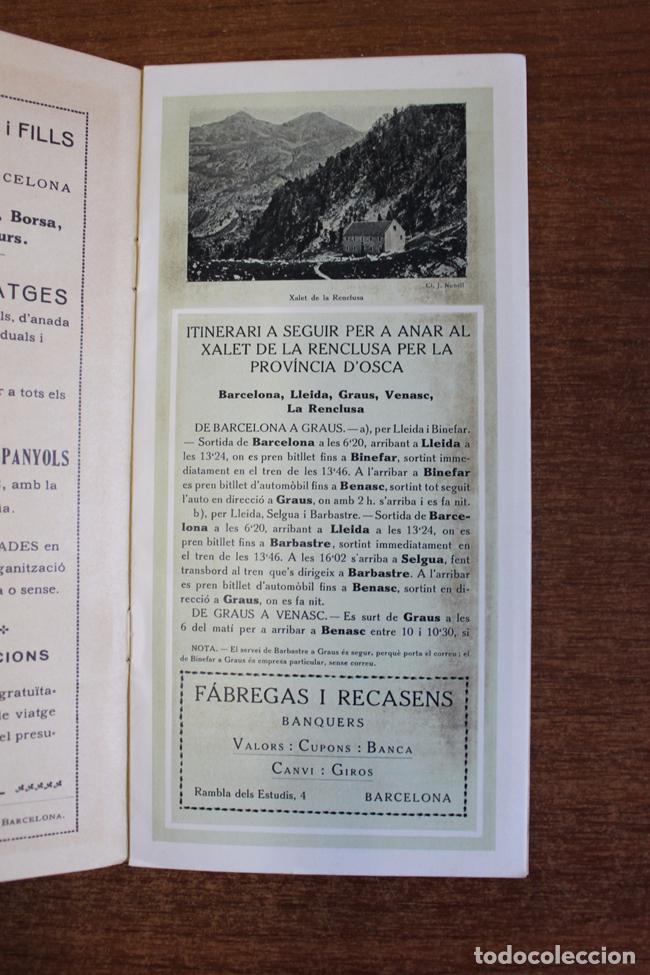 Folletos de turismo: ITINERARIS AL XALET-REFUGI DE LA ENCLUSA. CENTRE ESXCURSIONISTA DE CATALUNYA 1918. oliva de vilanova - Foto 2 - 72720667