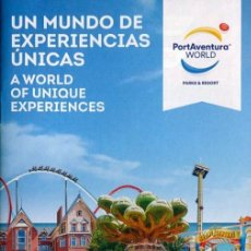 Folletos de turismo: FOLLETO PROPAGANDA PARQUE TEMATICO PORT AVENTURA WORLD, TARRAGONA 2016 (B). Lote 73564711