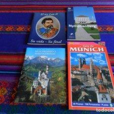 Folletos de turismo: NYMPHENBURG, GUÍA DE MÚNICH, NEUSCHWANSTEIN Y HOHENSCHWANGAU Y REY LUIS II. NUEVOS.. Lote 73651467