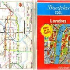 Folletos de turismo: LONDRES + PLANO DE LA CIUDAD - GUIA BAEDEKER - 203 PAGINAS - 19 X 12 - NUEVA . Lote 73741003