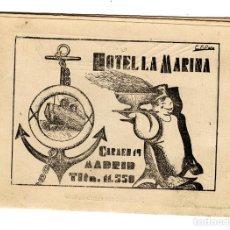 Folletos de turismo: FOLLETO HOTEL LA MARINA, CALLE CARMEN 19, MADRID (HACIA 1920). Lote 74496315