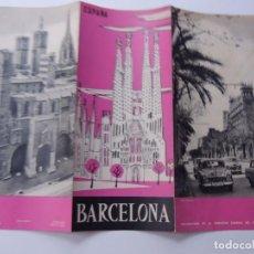 Folletos de turismo: BARCELONA / FOLLETO DE TURISMO AÑOS 50 / TRIPTICO. Lote 77434209