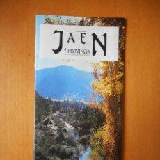 Folletos de turismo: JAÉN Y PROVINCIA. FOLLETO PUBLICITARIO JUNTA DE ANDALUCÍA. 24 PÁGINAS. 1988. Lote 77553497