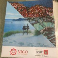 Folletos de turismo: FOLLETO TURÍSTICO DESPLEGABLE DE VIGO, GALICIA. EN IDIOMA INGLÉS.. Lote 79181249