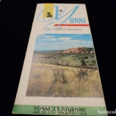 Folletos de turismo: PUBLICIDAD DE YONNE ET TOURISME FRANCIA. Lote 79348337