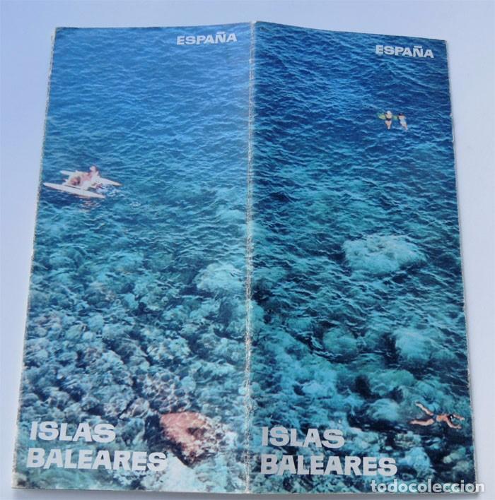 FOLLETO TURISMO / ISLAS BALEARES / AÑOS 60 (Coleccionismo - Folletos de Turismo)