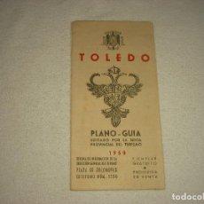 Folletos de turismo: TOLEDO PLANO-GUIA .1950. Lote 79890401