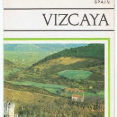 Folletos de turismo: FOLLETO TURÍSTICO DE VIZCAYA, SPAIN. AÑOS 60-70 (EN INGLÉS). PLANO DESPLEGABLE. Lote 79919053