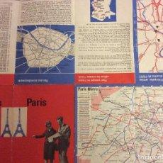 Folletos de turismo: FOLLETO TURISMO PARIS. AÑOS 60-70. Lote 80097181
