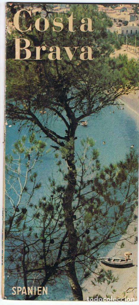FOLLETO TURÍSTICO DE LA COSTA BRAVA. MAPA DESPLEGABLE. AÑOS 50-60 (EN ALEMÁN) (Coleccionismo - Folletos de Turismo)