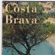 Folletos de turismo: FOLLETO TURÍSTICO DE LA COSTA BRAVA. MAPA DESPLEGABLE. AÑOS 50-60 (EN ALEMÁN). Lote 80256121