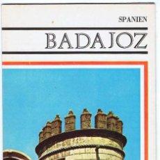 Folletos de turismo: FOLLETO TURÍSTICO DE BADAJOZ. MAPA Y PLANO DESPLEGABLE. AÑOS 60-70 (EN ALEMÁN). Lote 80256265