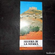 Folletos de turismo: FOLLETO DE TURISMO E INFORMACION. SEGURA DE LA SIERRA. JAEN. 1968. BUEN ESTADO.. Lote 80480761