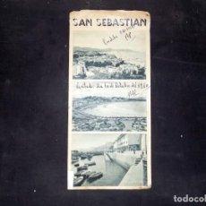 Folletos de turismo: FOLLETO DE TURISMO. SAN SEBASTIAN. 1960. BUEN ESTADO.. Lote 80481889