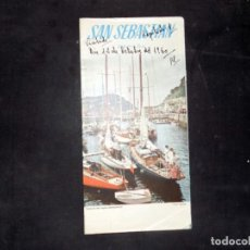 Folletos de turismo: FOLLETO DE TURISMO. SAN SEBASTIAN. COSTA VASCA. 1960. BUEN ESTADO.. Lote 80481977