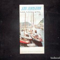 Folletos de turismo: FOLLETO DE TURISMO. SAN SEBASTIAN. COSTA VASCA. 1960. BUEN ESTADO.. Lote 80482053