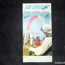 Folletos de turismo: FOLLETO DE TURISMO. SAN SEBASTIAN. COSTA VASCA. FIESTA VASCA. 1960. BUEN ESTADO.. Lote 80482341