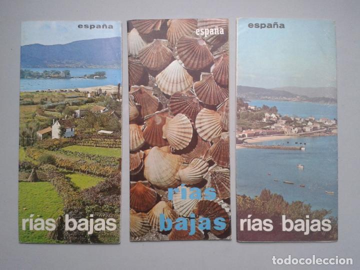 LOTE DE 3 FOLLETOS DE TURISMO DE LAS RIAS BAJAS. AÑOS 60. (Coleccionismo - Folletos de Turismo)