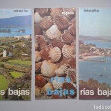 Folletos de turismo: LOTE DE 3 FOLLETOS DE TURISMO DE LAS RIAS BAJAS. AÑOS 60.. Lote 80741930
