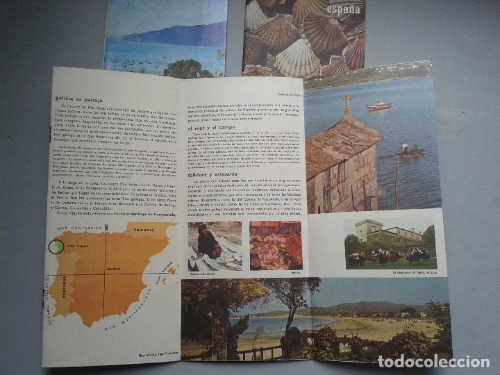 Folletos de turismo: Lote de 3 Folletos de Turismo de las Rias Bajas. Años 60. - Foto 2 - 80741930