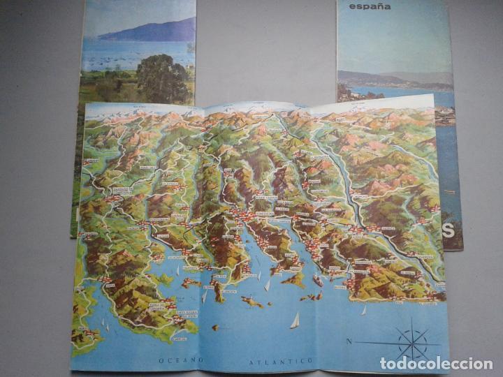 Folletos de turismo: Lote de 3 Folletos de Turismo de las Rias Bajas. Años 60. - Foto 3 - 80741930