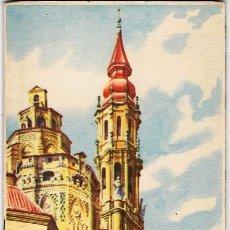 Folletos de turismo: FOLLETO TURÍSTICO ZARAGOZA ARTÍSTICA. GUÍA TURÍSTICA. PLANO DESPLEGABLE. FOURNIER 1954. Lote 81019576