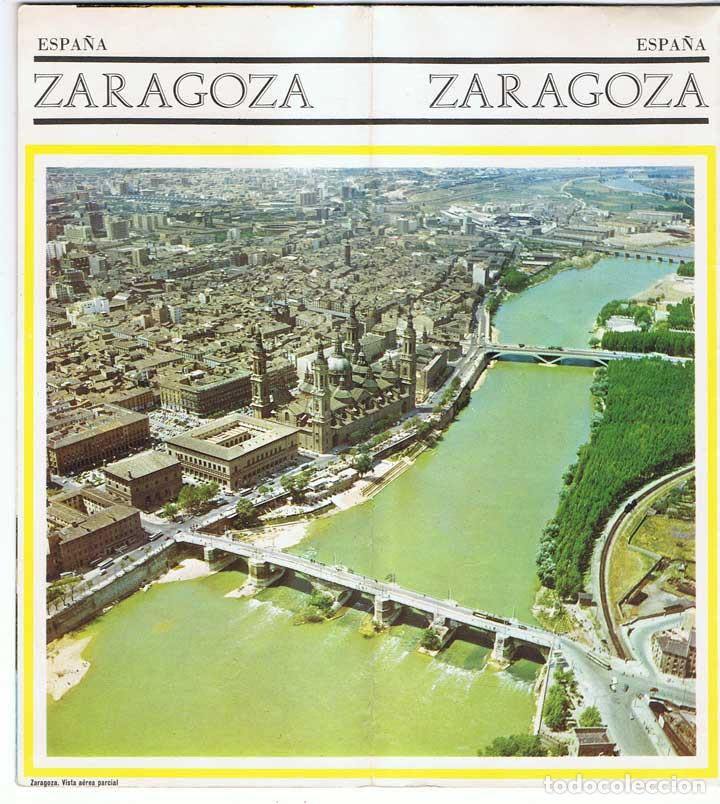 Folletos de turismo: Folleto turístico de Zaragoza. Plano desplegable. Años 60-70 - Foto 1 - 81049464