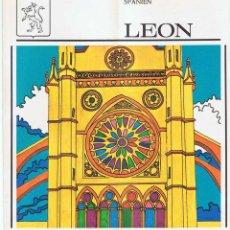 Folletos de turismo: FOLLETO TURÍSTICO DE LEÓN. PLANO DESPLEGABLE. AÑOS 60-70 (EN ALEMÁN). Lote 81049540