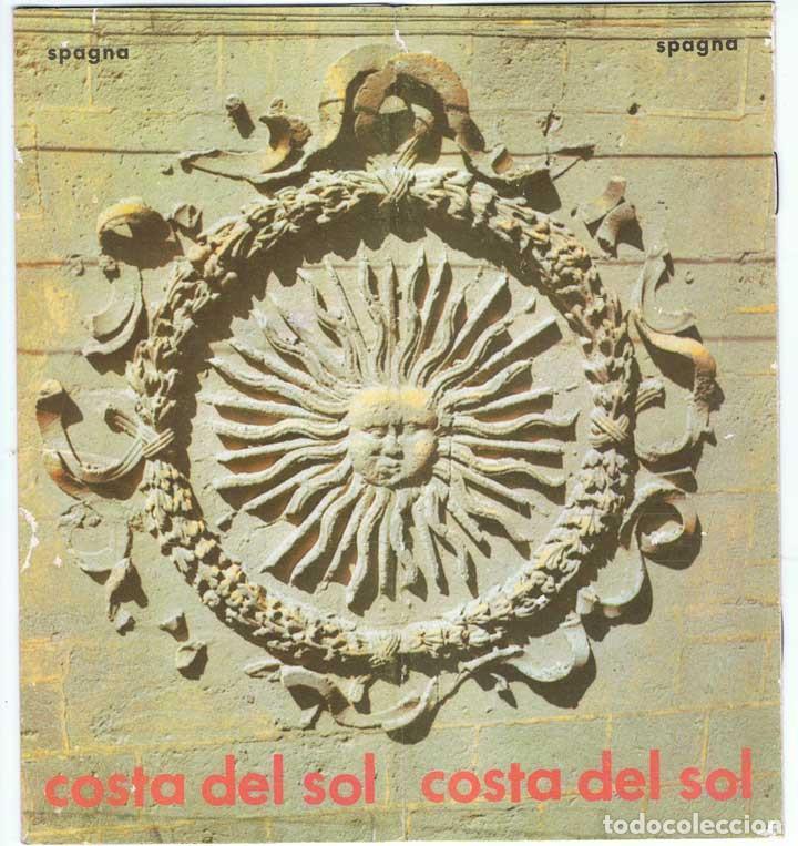 FOLLETO TURÍSTICO DE LA COSTA DEL SOL. MAPA DESPLEGABLE. AÑOS 60-70 (EN ITALIANO) (Coleccionismo - Folletos de Turismo)