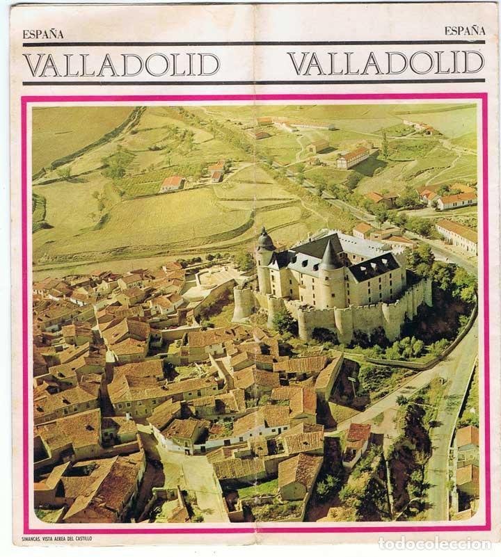 FOLLETO TURÍSTICO DE VALLADOLID. MAPA DESPLEGABLE. AÑOS 60-70 (Coleccionismo - Folletos de Turismo)