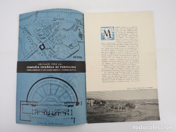 Folletos de turismo: CAMINOS DE ESPAÑA. RUTA XLIV. MÉRIDA Compañía Española de Penicilina, 1960 - Foto 2 - 81550128