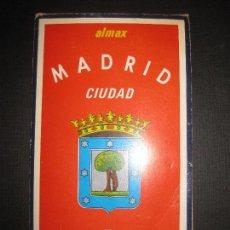 Folletos de turismo: MADRID CIUDAD. PLANO - GUIA - CALLEJERO. ALMAX 1972.. Lote 82314032