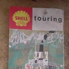 Folletos de turismo: ANTIGUA GUIA TURISTICA MAPA DESPLEGABLE SUIZA PUBLICIDAD SHELL. Lote 82965916