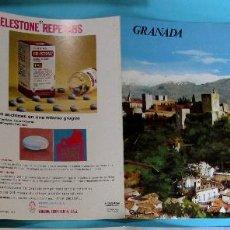 Folletos de turismo: COLECCIÓN ESPAÑA MONUMENTAL. TRÍPTICO GRANADA + FICHA PARADOR SIERRA NEVADA. HAROFARMA, S/F.. Lote 83270884