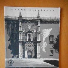 Folletos de turismo: VALLADOLID. SERIE TEMAS ESPAÑOLES, DE PUBLICACIONES ESPAÑOLAS. 36 PÁGINAS. AÑO 1954. BUEN ESTADO. Lote 83645456