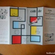 Folletos de turismo: PORTUGAL. FOLLETO PUBLICITARIO AÑOS 50, COTE DE CONTRASTES, DE CARCABELOS A GUINCHO. BUEN ESTADO. Lote 83647088