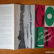 Folletos de turismo: PORTUGAL. FOLLETO PUBLICITARIO AÑOS 50 EN INGLÉS. GOLF EN LA COSTA PORTUGUESA. BUEN ESTADO. Lote 83647156