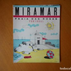 Folletos de turismo: PORTUGAL. FOLLETO PUBLICITARIO AÑOS 50 EN PORTUGUÉS. MIRAMAR, PRAIA DAS ROSAS. BUEN ESTADO. Lote 83647220