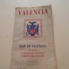 Folletos de turismo: VALENCIA - MAPA DE VALENCIA - PUBLICIDAD DE ESTABLECIMIENTOS. Lote 84054252