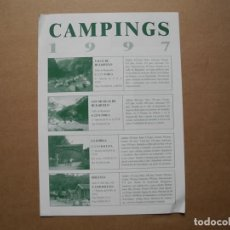 Folletos de turismo: CAMPING 1997. BOLTAÑA. ARAGÓN. Lote 85438732