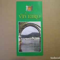 Folletos de turismo: VIVEIRO. LUGO. GALICIA. 1995. TRÍPTICO.. Lote 85533712