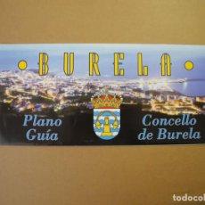Folletos de turismo: BURELA. PLANO. GUÍA. GALICIA. DESPLEGABLE. Lote 85534072