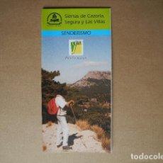 Folletos de turismo: SIERRAS DE CAZORLA, SEGURA Y LAS VILLAS. SENDERISMO JAEN. ANDALUCÍA.1997. DESPLEGABLE. Lote 85633420