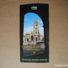 Folletos de turismo: EL CAMINO DE SANTIAGO EN ASTURIAS. DESPLEGABLE. . Lote 85634768