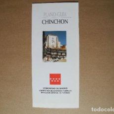 Folletos de turismo: CHINCHON. MADRID. PLANO GUÍA. DESPLEGABLE.. Lote 85696824
